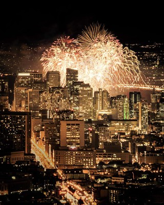 Happy New Year 2016 at Twin Peaks (San Francisco)
